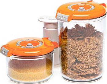 Набор контейнеров для вакуумирования Status VAC-RD-Round Orange