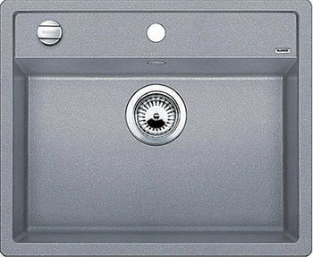 Кухонная мойка BLANCO DALAGO 6-F SILGRANIT алюметаллик с клапаном-автоматом кухонная мойка blanco dalago 6 f silgranit алюметаллик с клапаном автоматом