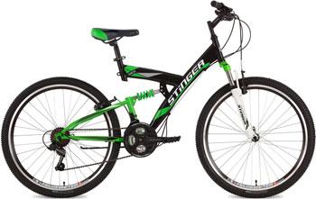 Велосипед Stinger 26'' Banzai 18'' черный 26 SFV.BANZAI.18 BK7 велосипед stinger 26 versus 18 оранжевый 26 sfv versu 18 or5