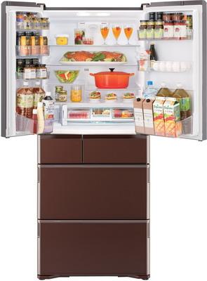 лучшая цена Многокамерный холодильник Hitachi R-G 630 GU XT коричневый кристалл