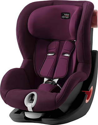 Автокресло Britax Roemer King II Black Series Burgundy Red Trendline 2000030812 автокресло britax romer king ii black series wine rose trendline