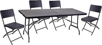 Комплект мебели GoGarden RIMINI складной (стол и 4 стула) 50360 набор мебели trek planet event set 95 стол и 4 стула 70667