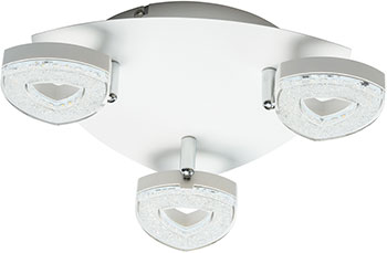 Люстра потолочная DeMarkt Этингер 704011203 3*4W LED 220 V demarkt потолочная люстра demarkt бриз 464017506