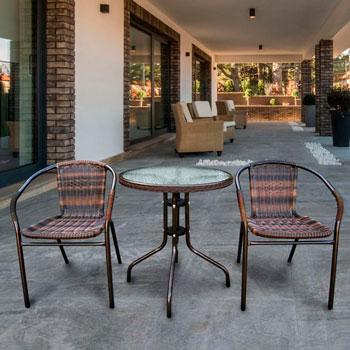 Набор мебели Афина Асоль-1B (иск. ротанг) орех TLH-037 BR2/060 RR-D-60 Brown 2Pcs afina набор мебели асоль 2в иск ротанг