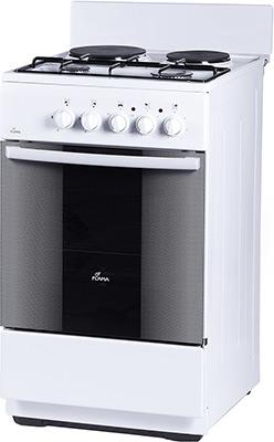 Комбинированная плита Flama RK 2201 W белый электрическая плита flama 33606 w