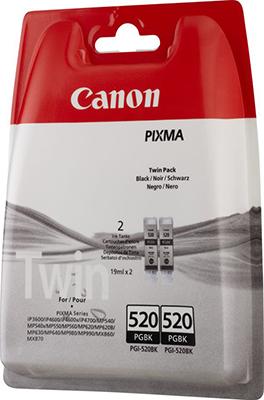 Набор картриджей Canon PGI-520 BK Twin 2932 B 012 Чёрный