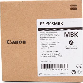 Картридж Canon PFI-303 MBK 2957 B 001 Матовый чёрный картридж canon pfi 303 mbk для ipf815 825 черный матовый