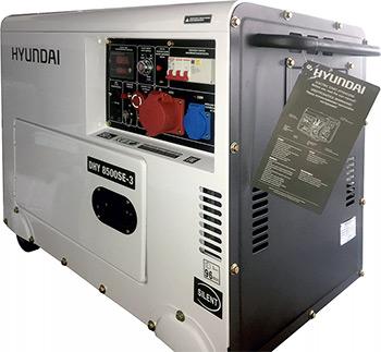 Электрический генератор и электростанция Hyundai DHY 8500SE-3 дизельный генератор hyundai dhy 8000se