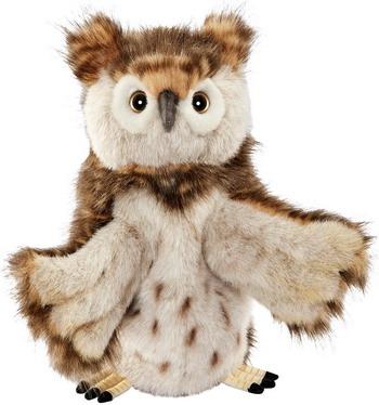 Мягкая игрушка Hansa Creation 7159 Сова игрушка на руку 34 см мягкая игрушка сова hansa сова белая искусственный мех синтепон белый 18 см 6155