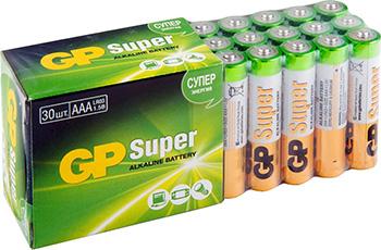 цена на Батарейка GP Super Alkaline 24A LR03 AAA (30шт)