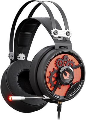 Аудио гарнитура игровая проводная A4Tech Bloody M660 черный/красный гарнитура