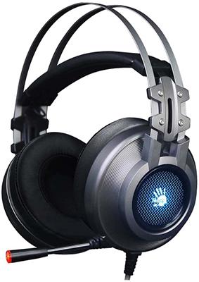Аудио гарнитура игровая проводная A4Tech Bloody G525 серый аудио гарнитура игровая проводная a4tech bloody j437 черный