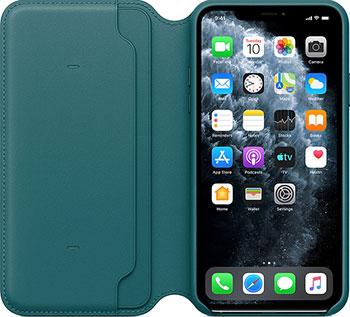Кожаный чехол Apple iPhone 11 Pro Max Leather Folio - Peacock MY1Q2ZM/A пряжа veniard pro dub yarn pearl peacock