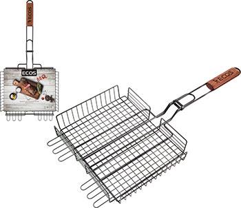Решетка для барбекю Ecos 22139D с антипригарным покрытием 999631 решетка для барбекю ecos fry 2025 999664