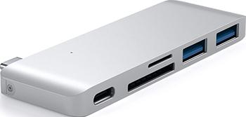 Фото - USB-хаб Satechi Type-C USB 3.0 Passthrough Hub для Macbook 12'' серебристый (ST-TCUPS) moda argenti st 1622 c