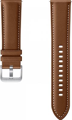 Кожаный ремешок Samsung Stitch Leather Band для Galaxy Watch3 (41мм)/Watch (42мм)/Watch Active2/Active коричневый (ET-SLR85 megir watch men s fashion square leather calendar sports fashion big dial watch men 2040