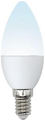 Лампа Uniel LED-C37-6W/NW/E14/FR/MB PLM11WH Форма «свеча» матовая (4000K) 002374