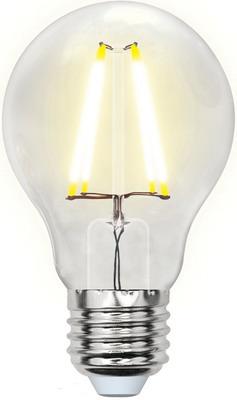 Лампа Uniel LED-A60-8W/WW/E27/CL GLA01TR Форма ''A'' прозрачная (3000K) 002210 лампа светодиодная uniel led a60 12w 3000k e27 cl pls02wh форма a прозрачная 3000k 004866