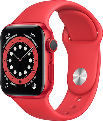 Умные часы Apple Watch Series 6 40mm (M00A3RU/A) PRODUCT(RED) Aluminium Case with RED Sport Band умные часы apple watch series 6 40mm red aluminium case with red sport band m00a3ru a