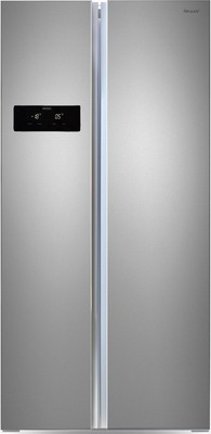 Холодильник Side by Side Ginzzu NFK-465 стальной холодильник side by side ginzzu nfk 530 черный