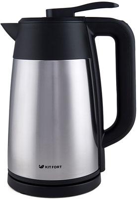 лучшая цена Чайник электрический Kitfort КТ-620-2 серебристый металлик