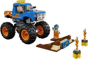 Конструктор Lego City Great Vehicles: Монстр-трак 60180 lego city great vehicles конструктор реактивный самолет 60177