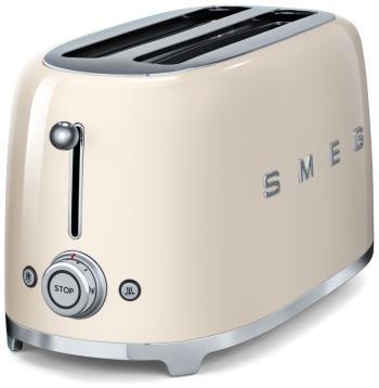 Тостер Smeg TSF 02 CREU кремовый чайник smeg стиль 50 х годов 2400 вт кремовый 1 7 л нержавеющая сталь klf03creu