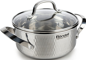 Кастрюля Rondell RDS-828 RainDrops ковш rondell rds 826 16 см 1 3 л нержавеющая сталь raindrops
