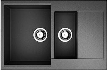 Кухонная мойка OMOIKIRI Daisen 78-2-BL Artgranit/черный (4993334)