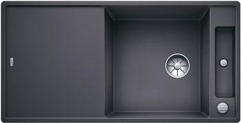 Кухонная мойка BLANCO AXIA III XL 6 S-F InFino Silgranit темная скала (доска ясень) 523521 кухонная мойка blanco axia iii xl 6 s f infino silgranit алюметаллик доска стекло 523528