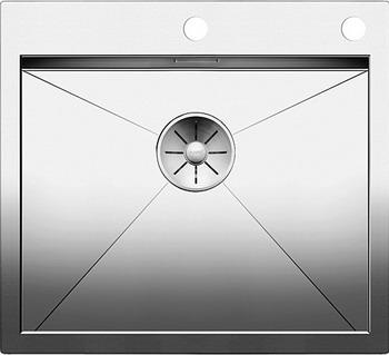 Кухонная мойка BLANCO ZEROX 500-IF/А нерж. сталь зеркальная полировка с клапаном-автоматом 521630 мойка кухонная blanco lantos 9e if полированная нерж сталь с клапаном автоматом 516277