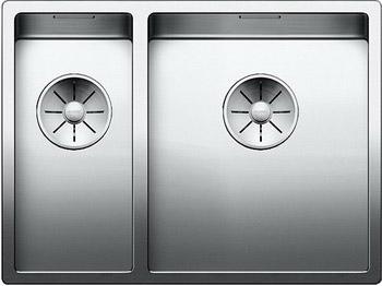 Кухонная мойка Blanco CLARON 340/180-U (чаша справа) нерж. сталь зеркальная полировка 521610 кухонная мойка blanco claron 8s if а чаша справа нерж сталь зеркальная полировка 521651