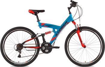 Велосипед Stinger 26'' Banzai 20'' синий 26 SFV.BANZAI.20 BL7 велосипед горный stinger versus d цвет синий 26 рама 20