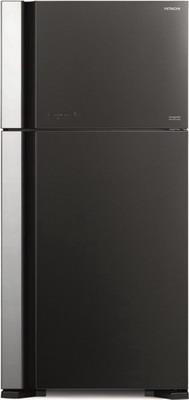 Двухкамерный холодильник Hitachi R-VG 662 PU7 GGR серое стекло цена и фото