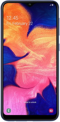 Смартфон Samsung Galaxy A10 32GB SM-A105F (2019) синий смартфон samsung galaxy a10 2019 2 32gb black