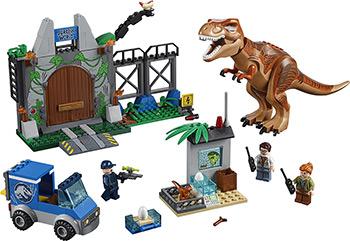 Конструктор Lego JUNIORS Побег Ти-Рекса 10758 цены онлайн