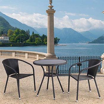 Комплект мебели Афина T 282 ANS/Y 137 C-W 53 Brown 2Pcs