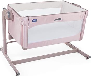 манеж кровать chicco next2me air макс 9кг бежевый от 0 мес до 6 мес 05079620340000 Детская кроватка Chicco Next2Me Magic (Candy Pink)