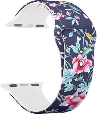 ремешок sport band для смарт часов apple watch 38 40 мм черный с белым Ремешок для часов Lyambda для Apple Watch 38/40 mm ALYA DS-APF06-40-18