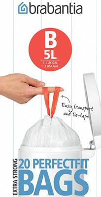 Мешки для мусорных ведер Brabantia 5л 20шт 311741 кресла мешки