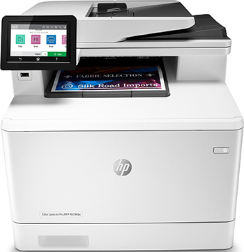 цена МФУ HP Color LaserJet Pro M479fdw WiFi белый/черный
