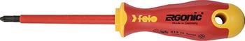 Отвертка диэлектрическая Felo Ergonic крестовая PZ 2X100 41520390 отвертка felo ergonic крестовая ph 2x100 40220310