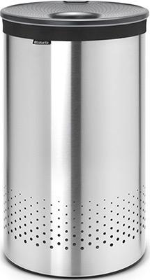 Бак для белья Brabantia 105166 с пластиковой крышкой 60л стальной матовый