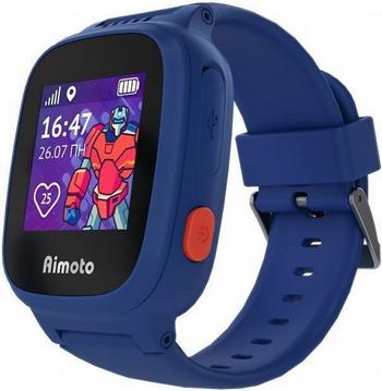 Детские часы с GPS поиском Aimoto Kid Кнопка жизни Робот синий 8001102