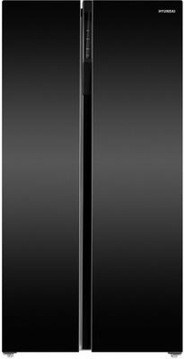 Холодильник Side by Side Hyundai CS6503FV черное стекло