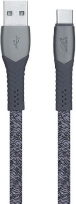 Фото - USB кабель Rivacase Type C 2.0 1 2m серый PS6102 GR12 кабель usb2 0 type c 1 2m deppa 72274 алюминий