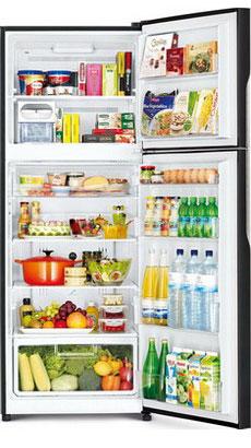 лучшая цена Двухкамерный холодильник Hitachi R-VG 472 PU3 GBW