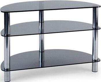Стойка Metaldesign MD 404 SLIM хром - дымчатое стекло журнальный стол metaldesign смарт md 736 01 11 корпус черный стекло белый