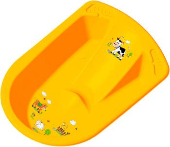 Ванна анатомическая ОКТ FUNNY FARM с сливом желтый