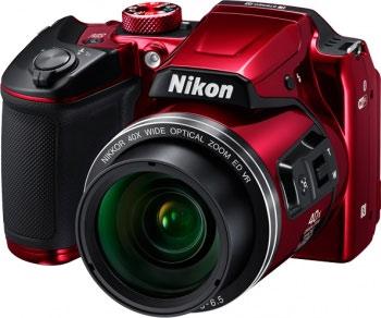 Цифровой фотоаппарат Nikon COOLPIX B 500 красный цифровой фотоаппарат nikon coolpix a 100 purple lineart